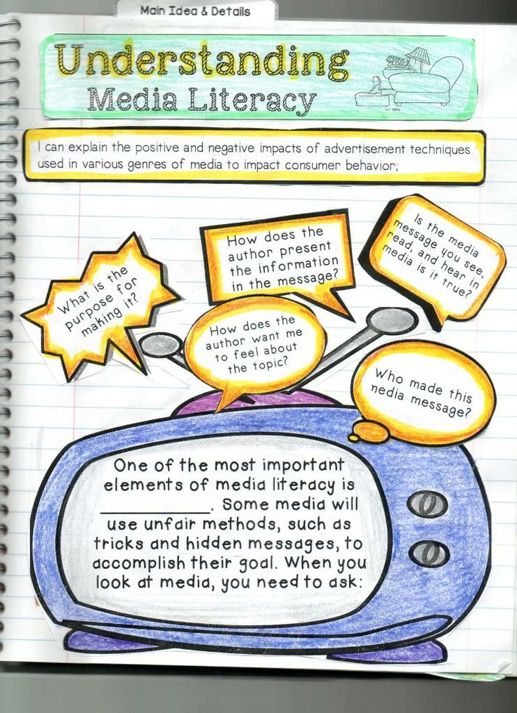 Media Literary - Interactive Reading Comprehension iNotebook. Check out this amazing resource!! http://www.teacherspayteachers.com/Product/Interactive-Reading-Comprehension-iNotebook-Journal-Part-1-1176617