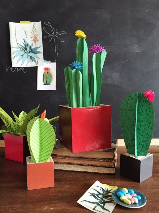 DIY Paper Plants housethatlarsbuilt