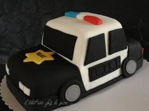 Gâteau Voiture de Police Américaine Old School ... - par il etait une fois le…