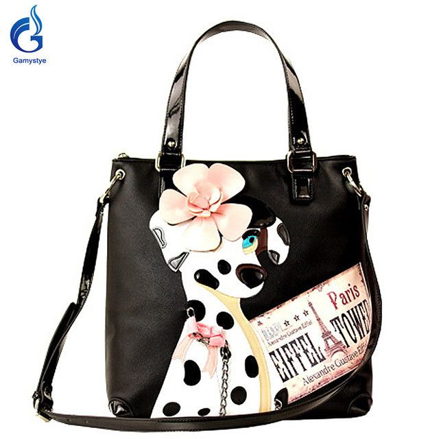 Borsa Italy Handicraft Art Design Haba dog bags Women Shoulder Bag Vintage Handbag Black Tote borse di marca bolsa