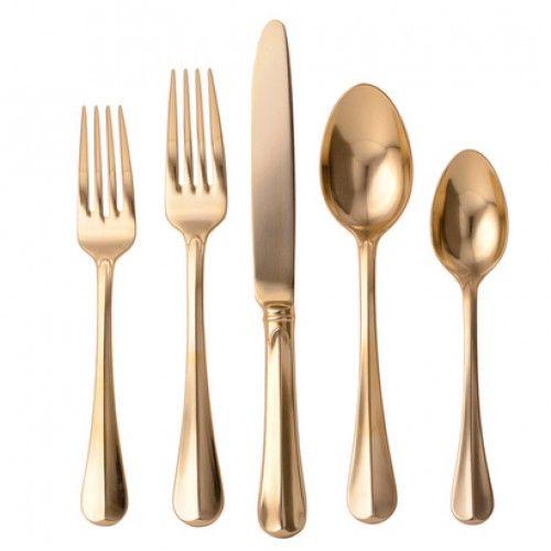 Luxurious Bistro Gold #Juliska #Flatware Collection.   #JuliskaFlatware