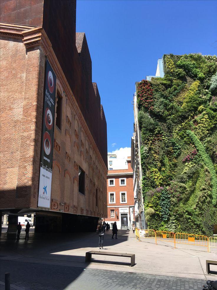 Caixa Forum Madrid Kulturzentrum Architektur Herzog & de Meuron vertikaler Garten Patrick Blanc