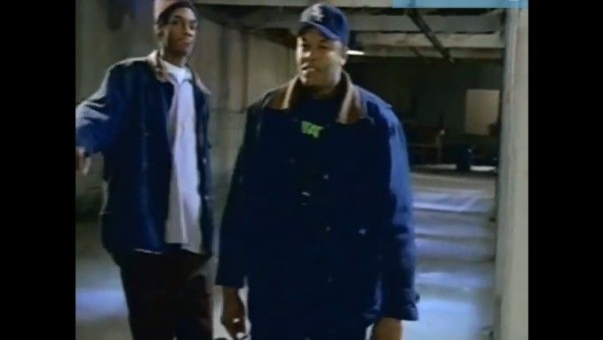 Carhartt - Dr. Dre feat Snoop Dogg 'Fuck wit Dre Day'   Also Nas, Action Bronson  Sturdy wear for outdoor work, the tan and denim Carhartts coming out of Detroit became a staple among Brooklyn emcees in particular.