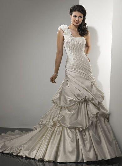 Robe de mariée de nouveauté avec bretelle unique