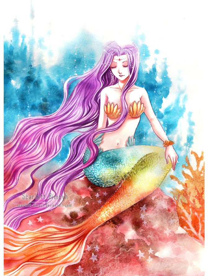 066 - Rainbow mermaid by Scarlett-Aimpyh.deviantart.com on @deviantART