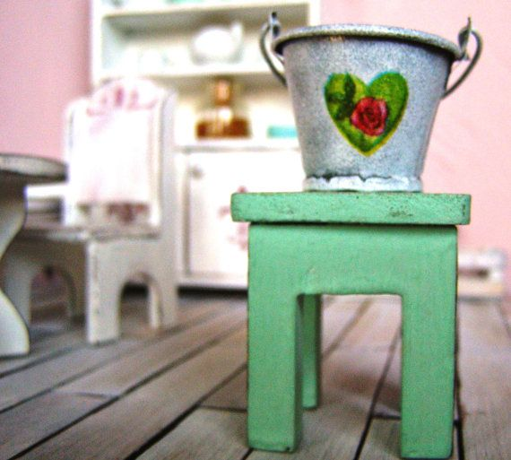 Dollhouse bucket miniature bucket  12th scale by DewdropMinis