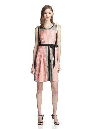 57% OFF Sfizio Women's Sleeveless Dress (Beige/Black/Red)