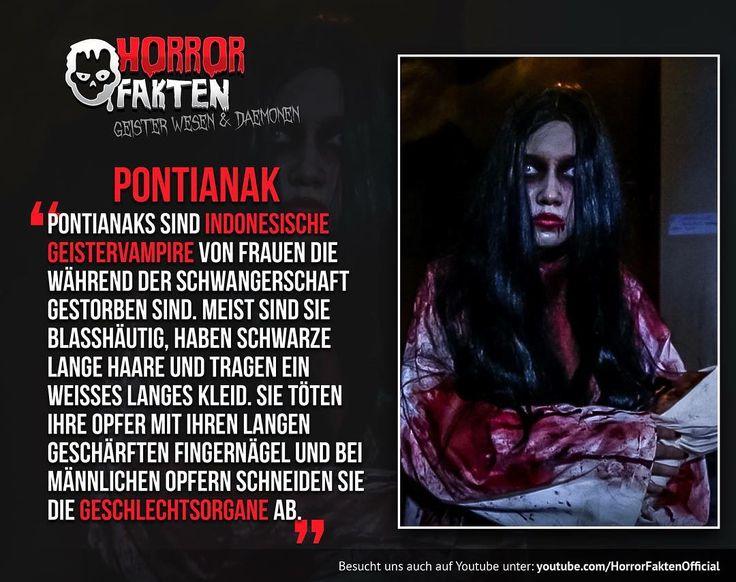 ❝Neues Format - Geister, Wesen und Dämonen❞  #horrorfakten #pontianak