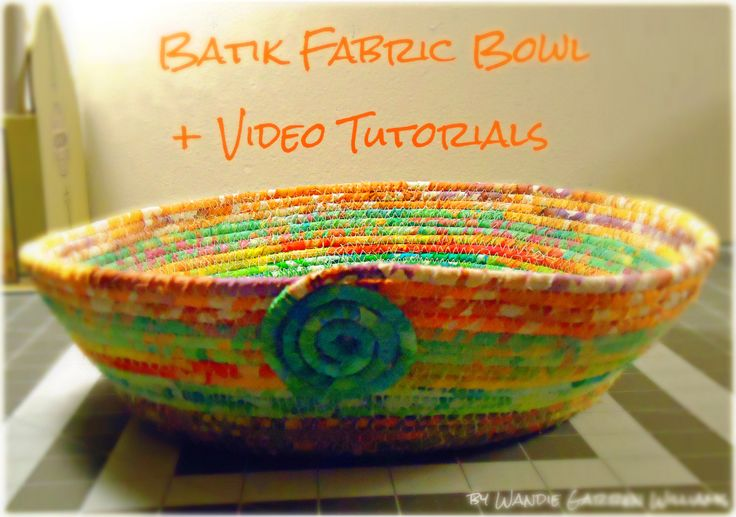 Coil a fabric basket with these video tutorials from Sew-Whats-New