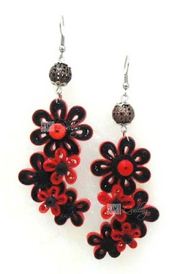 quilled earrings - by: Susan Quilling