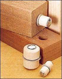 Roto-Hinges - Woodworking  Called rotating connectors, these plated-steel and hardwood hinges are ideal for all types of folding furniture, louvers or toys — anywhere a pivot joint is needed.  Lee Valley