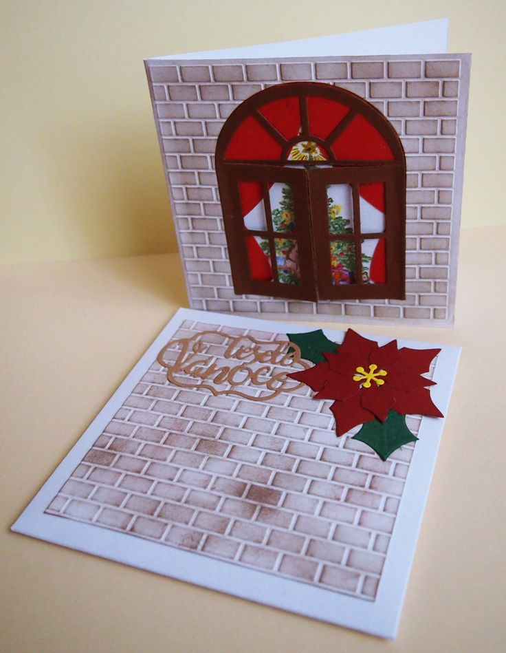 #christmas #day #winter #window #christmastree #wall #cardmaking #papercard #card