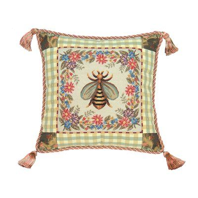 16x16 Bumble Bee Decorative Pillow Decor Interiors