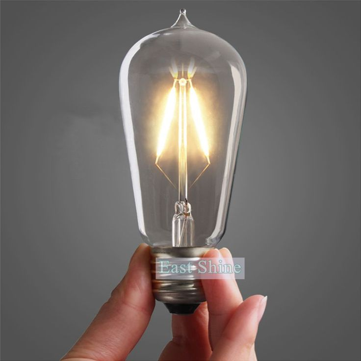 Find More LED Bulbs & Tubes Information about Retro Vintage LED Edison Bulb E27 Warm White ST58 Filament Bulbs Lamp Energy Saving Lighting light Wholesale,High Quality light backdrop,China lighted vanities Suppliers, Cheap light up fishing lure from Zhongshan East Shine Lighting on Aliexpress.com