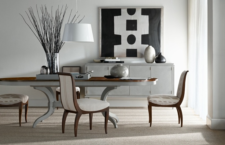 LeeLee Side Chairs, Mercer Dining Table, Artisan Sideboard