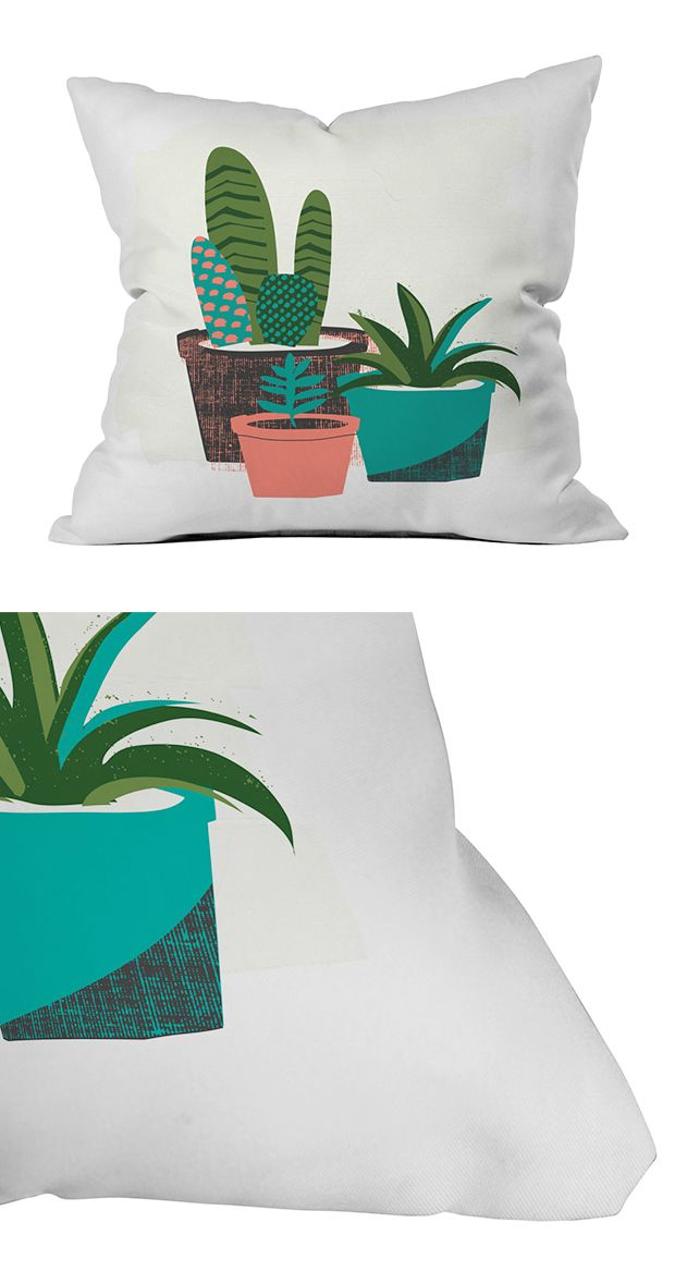 No need to water this outdoor greenery! Our Sunbathing Succulents Outdoor Pillow…