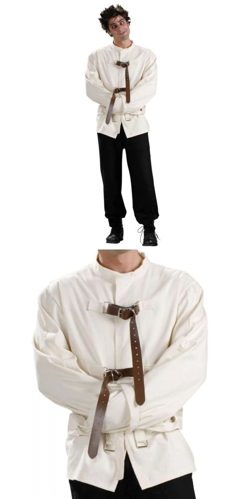 Men Costumes: Straight Jacket Costume Adult Mens Scary Halloween Fancy Dress -> BUY IT NOW ONLY: $34.09 on eBay!