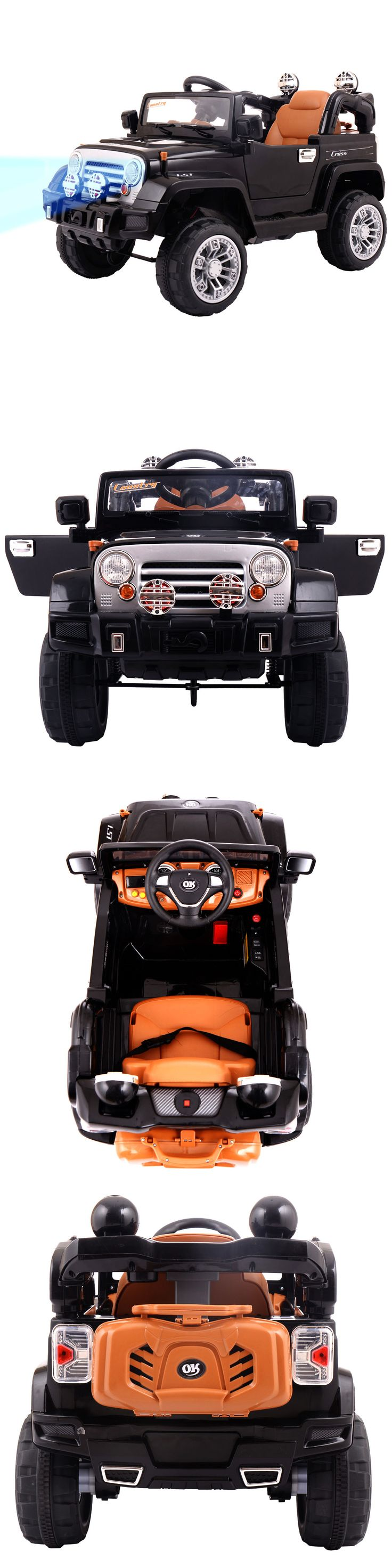 Ride On Toys and Accessories 145944: 12V Mp3 Rc Battery Power Wheels Jeep Car Truck Kids Ride On W Led Lights Black -> BUY IT NOW ONLY: $170.99 on eBay!