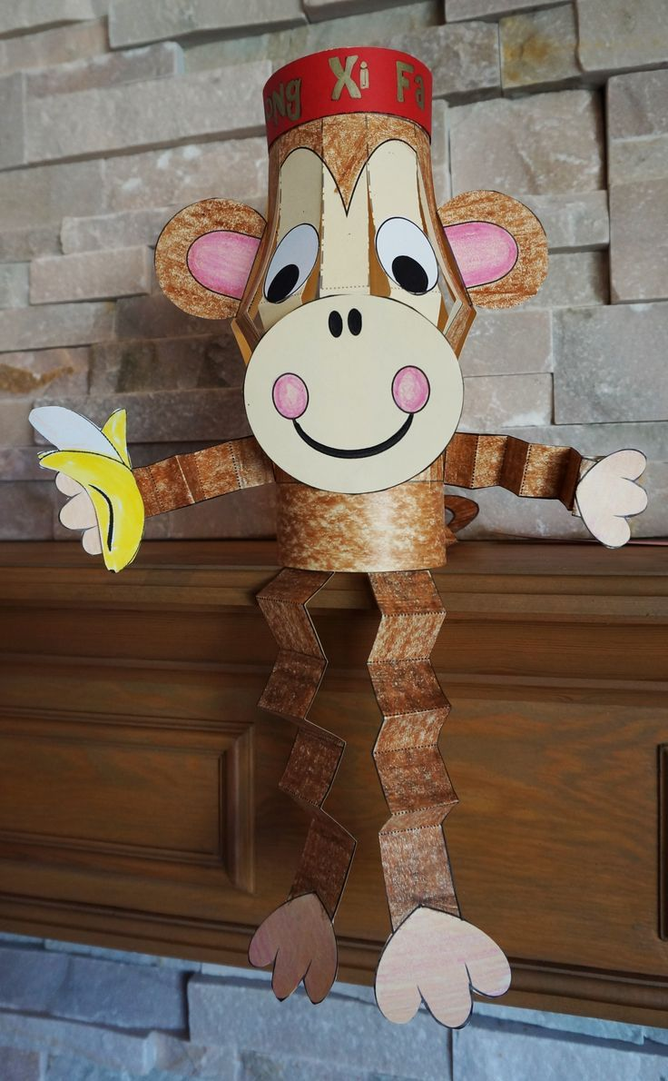 Isn't This The Most Adorable Monkey Craft For Chinese New Year In 2016?