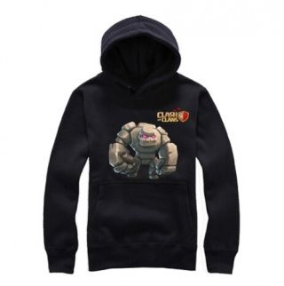 COC game mens pullover hoodies Clash of Clans Golem pattern