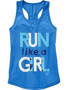 Girls Old Navy Active Graphic Running Tanks