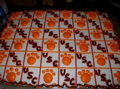 Cute idea for Clemson / Carolina game day.