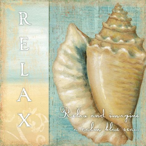 Relax and Imagine a Calm Blue Sea