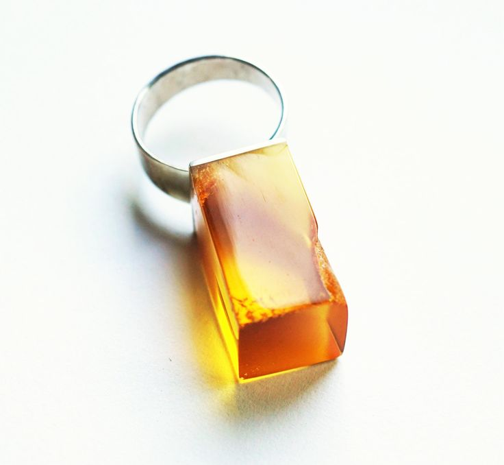 Luxury Baltic Amber Sterling Silver Ring no.004B by APPUSSTUDIOJEWELLERY on Etsy