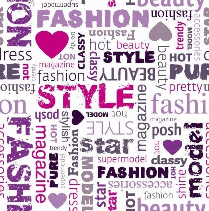 Fashion Word Collage Vector Illustration