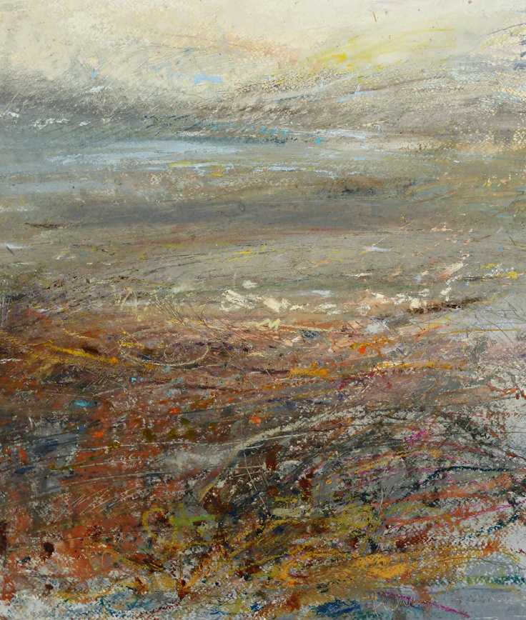 Rhythms of Shores, Seas and Light. Painting, mixed media. Helena Emmans.