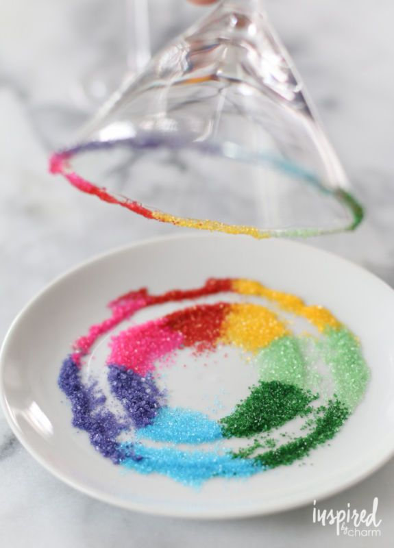 How to create a rainbow sugar cocktail ring - PLUS more creative cocktail…
