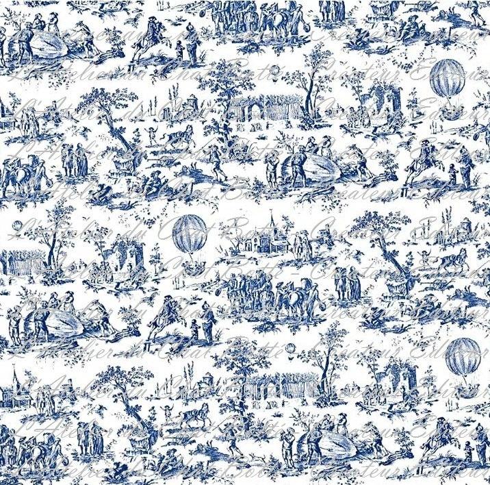 Wallpaper Dollhouse - Papier Peint Maison de Poupée - Toile de Jouy - réf : P 15120979. €3.00, via Etsy.