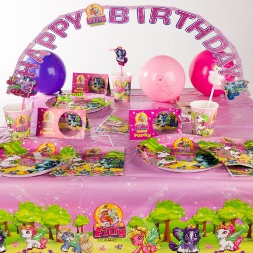 Partyset Filly Fairy 64-tlg.    Das Set beinhaltet alles was Sie für die Feier benötigen und im Nu ohne viel Aufwand haben Sie den Tisch gedeckt.
