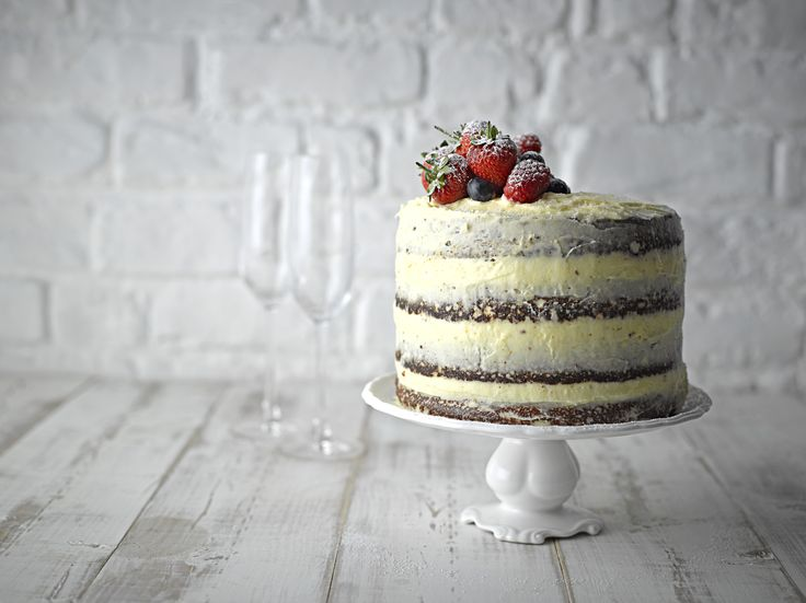 Tiered cake styled by Nick Walsh