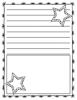 Enjoy this FREE patriotic lined writing paper!Don't forget to follow me by clicking on the green star by my name to be notified of sales, new products and more freebies!! Clip art by: Ashley HughesBorder by: Mad Clips Factory