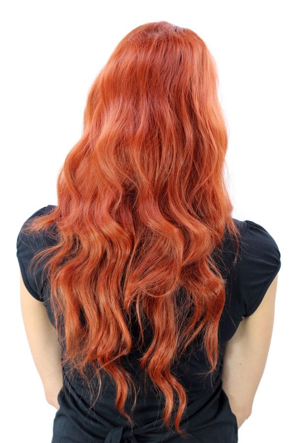 Wig Women s Sexy Bright Red Middle Part Wavy Irish YZF-4072 Sexy Bright Red b5d00a9994