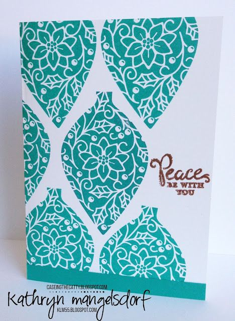 Stampin' Up! Embellished Ornaments, Reason for the Season, Quick & Simple Christmas Card Designed by Kathryn Mangelsdorf