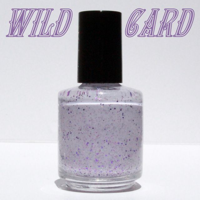 Wild Card 3 is a pale lilac crelly blend with various sized purple, fuchsia and silver holographic glitter.  Ingredients: Butyl Acetate, Ethyl Acetate, Nitrocellulose, Adipic Acid/Neopentyl Glycol/Trimellitic Anhydride Copolymer, Acetyl Tributyl Citrate, Isopropyl Alcohol, Acrylates Copolymer,...