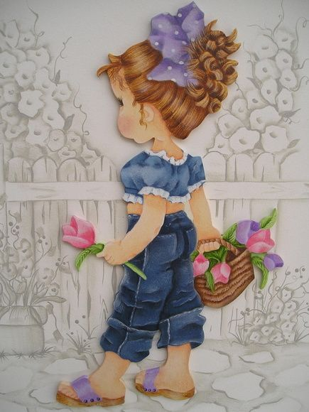 PINTURA FOLK ART - SARAH KEY