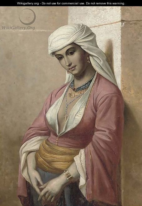 Odalisque - Jean Raymond Hippolyte Lazerges