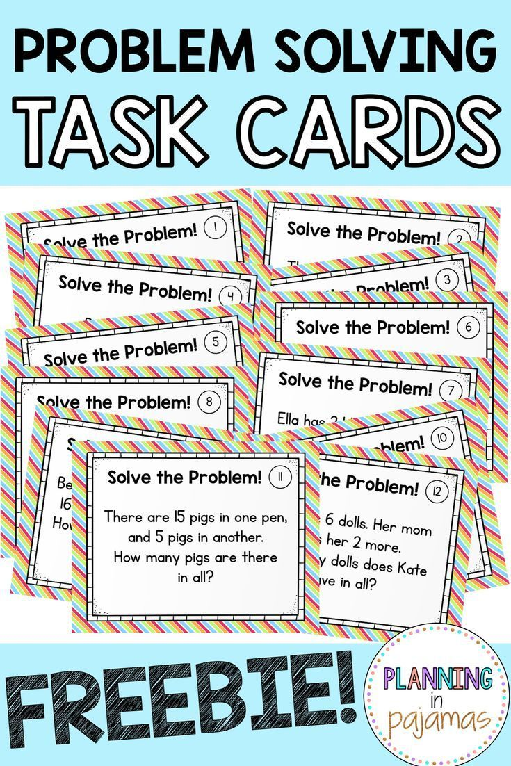 Free Math Problem Solving Addition Subtraction Task Cards Math Problem Solving Math Story Problems Math Word Problems Problem solving involving adding and