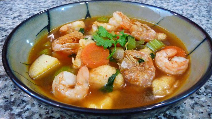 Best 20 shrimp soup ideas on pinterest thai shrimp soup for Mexican fish soup recipe