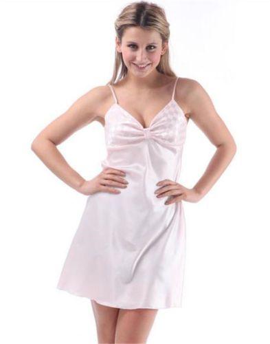 Womens-Sexy-Nightgown-Satin-Slip-Night-Dress-Lingerie-Silk-Underwear ...