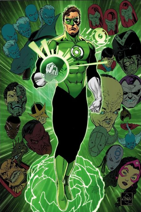 Green Lantern Rogues | By: Ethan Van Sciver, via Abduzeedo (#greenlantern)