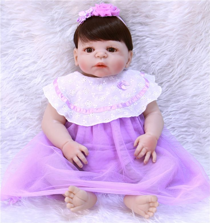 81.83$  Watch here - http://alid69.shopchina.info/1/go.php?t=32810500797 - 55cm Full Body Silicone Reborn Baby Doll Toys Lifelike fake baby girl doll Play House Toy children gift bebe bonecas 81.83$ #SHOPPING