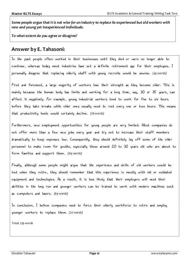 Ielt Writing Task 2 Master Essay 141 P Task1 On Elderly People