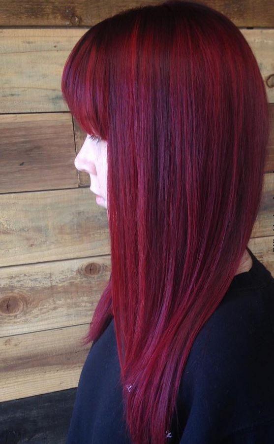 Dark Red Hair Color - Hairstyles Ideas - New Hair Style (210) Sade Kadınlar