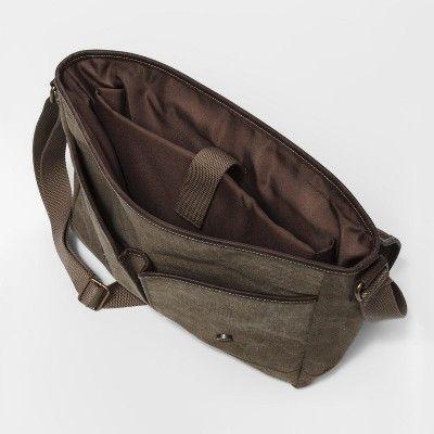 Men's Messenger Bag - Goodfellow & Co Brown One Size