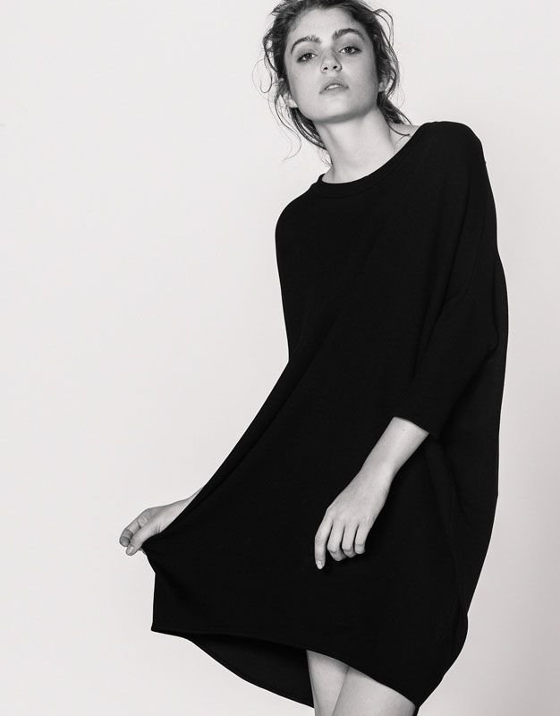 Plain cocoon dress - Dresses - Clothing - Woman - PULL&BEAR United Kingdom