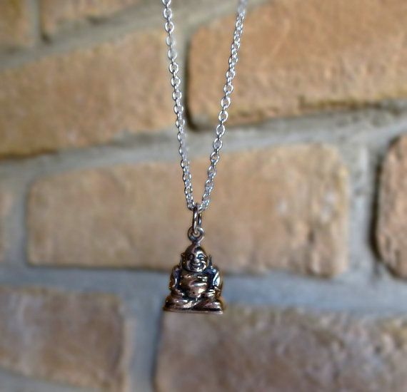YOGA JEWELRY Buddha silver necklace Sterling by SoCoolCharms